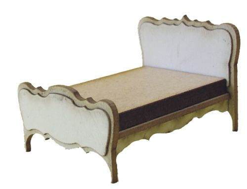 1:48th Shabby Chic Double Bed Kit