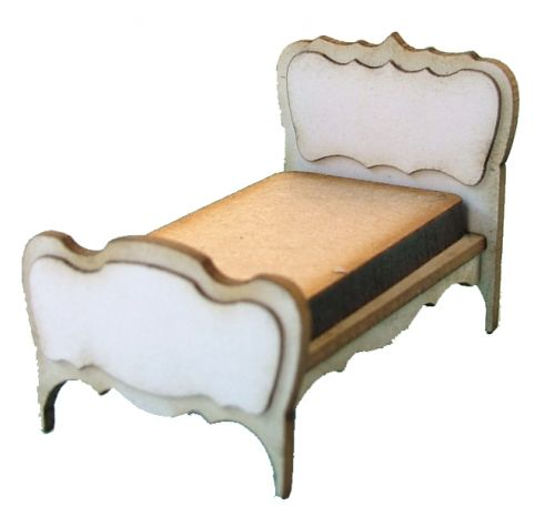 1:48th Shabby Chic Single Bed Kit