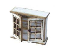 1/48th Short Glazed Cupboard