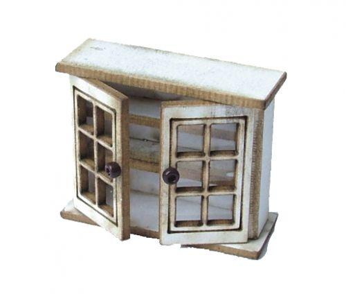 1:48th Short Glazed Cupboard