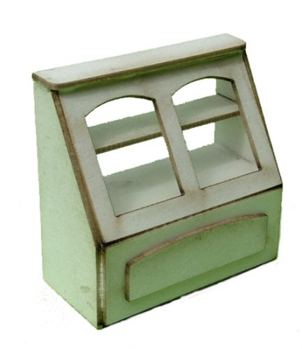 1:48th Tall Glazed Shop Counter