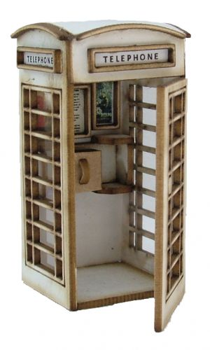 1:48th Telephone Box Kit