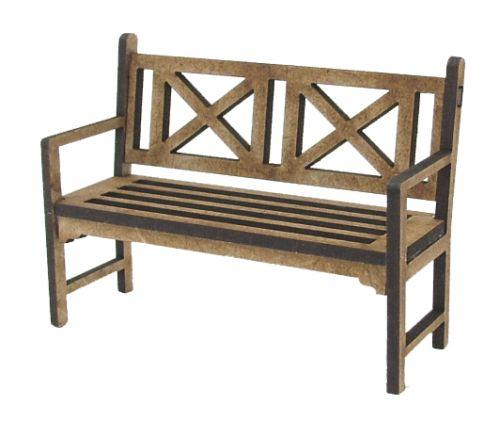 1/24th Traditional Garden Bench Kit