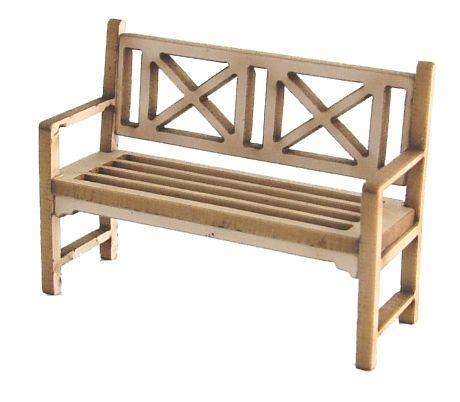 1/48th Traditional Garden Bench Kit